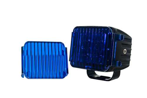 "3"" Blue Flood OZ-USA® Lens Cover for POD lights fog dust Off road 4x4 SUV ATV (1 pair)"