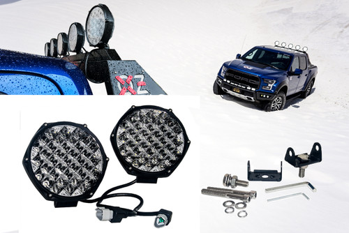 """80w Round DRL 7"""" OZ-USA® LED Light  Combo Spot + Flood Beam with DRL Function Off Road Fog Driving Roof Bar Bumper 4x4 UTV Jeep SUV Truck Heavy Equipment (1pair)"""