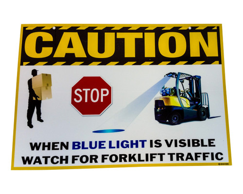 Forklift warehouse safety sign Laminated Vinyl Traffic Sign Caution Safety Warning Signage Lifting Boom Crane Warehouse Storage Indoor Outdoor Construction Area