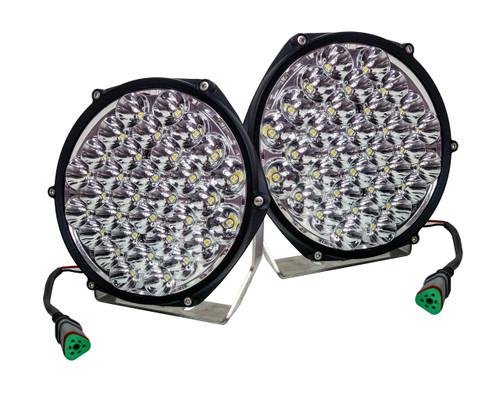 "7"" High Output Osram LED Driving Lights Offroad Truck SUV Spot Beam 12 - 32 volts"