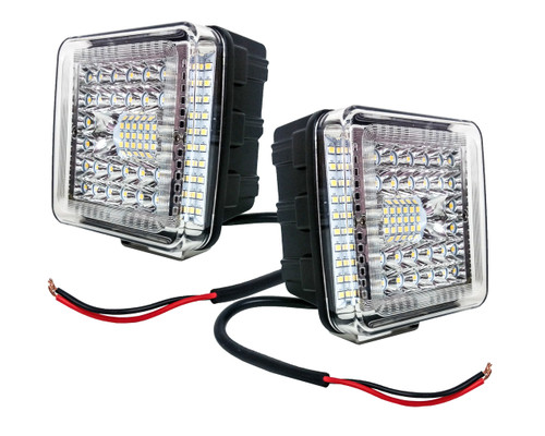 """2 pc. OZ-USA® 4"""" High Output 360° Osram LED Work Lights Driving Offroad Truck Trailer Tractor SUV Heavy Equipment Vehicle Combo Beam 12 - 32 volts"""