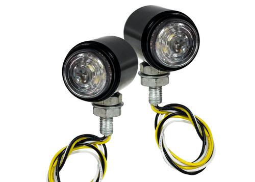 White Amber Dual LED High Output Running Light Turn Signal Fog Offroad Street Harley Touring Cruiser