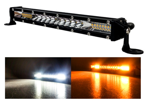 """M-Series 10"""" Dual White Amber Ultra Slim High Output Osram Color Changing LED Light Bar Single Row Spot Flood Combo Beam Off Road Truck ATV Marine Boat RV Heavy Equipment Vehicles 12 - 30 Volts"""