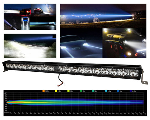 "43"" Laser Projector Light Bar Single Row High Intensity Osram LED with DRL Function for Offroad Truck SxS UTV Marine Vessels 12-24 volt"