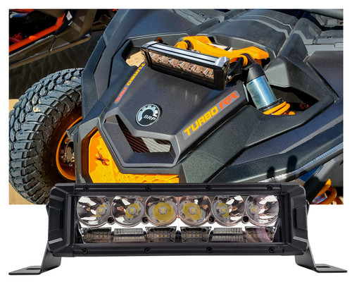 "10"" High Output Osram LED Driving Lights DRL Function Combo Spot Flood Beam for Truck UTV ATV X3 Shock Tower Mount 12V - 24V"