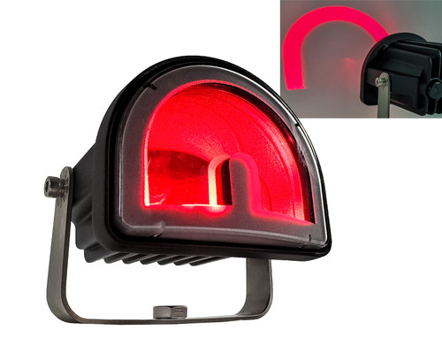 Red Arc projector LED Forklift Warning Safety light Warehouse Marker Clearance for Scissor Lift, Truck Conveyor, Industrial Equipment 12V - 80V