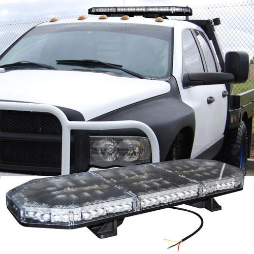 "29"" Amber LED Beacon Flashing Strobe Warning Light Bar Roof Mount for Emergency Construction Vehicles Tow Truck 12V 24V"
