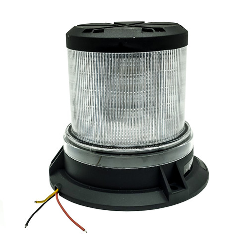 360° White Amber LED Strobe Rotating Beacon Flashing Light Clear Lens