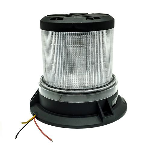 360° White Amber LED Strobe Rotating Beacon Flashing Light Clear Lens