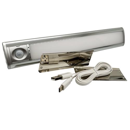 33-LED USB Rechargeable Wireless PIR Motion Sensor Light Magnetic Base Under Cabinet Lighting RV Camper Boat Marine