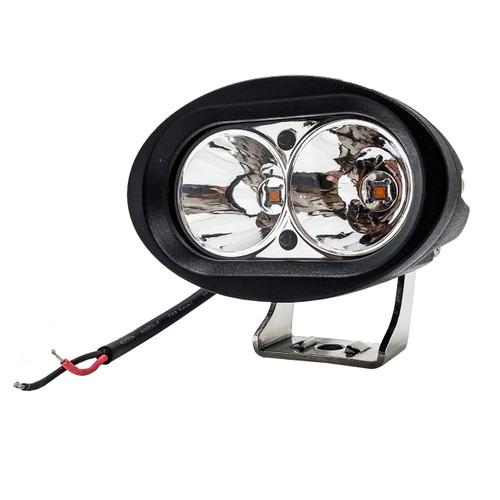 """FR Series 4"""" Amber Cree LED Oval 20w High Output Spot Beam Offroad Truck 12V 48V"""