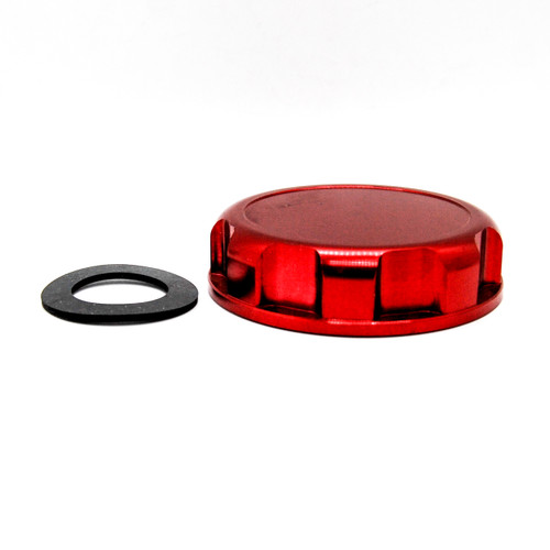 JS Billet Gas Cap Red OZ-USA® with Rubber Gasket for Kawasaki JB 300 440 550 650 SX TS Stand Up PWC STX SXI 750 I