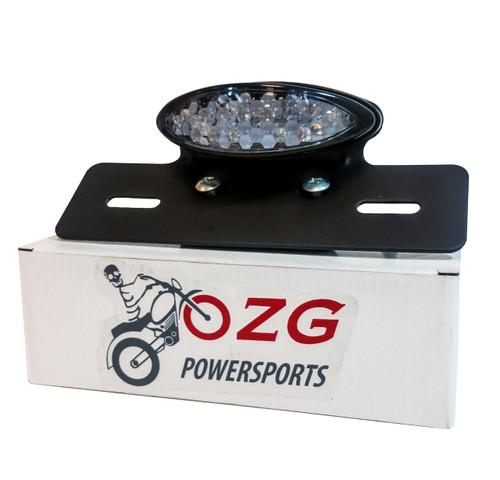 LED Plate Holder Tail Light Brake Motorcycle Custom License Relocator Dual Sport
