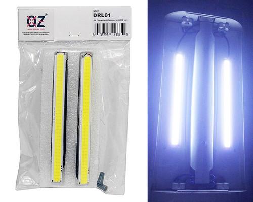"2 pc OZ-USA® Silver Aluminum 6"" Interior LED Light for Semi Truck Trailer Motor Home RV"
