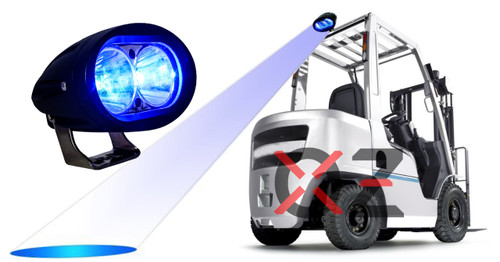blue led forklift safety light