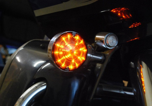 Amber LED Bulb Harley Touring Turn Signal Road King Glide Electra Ultra 1156 Fl