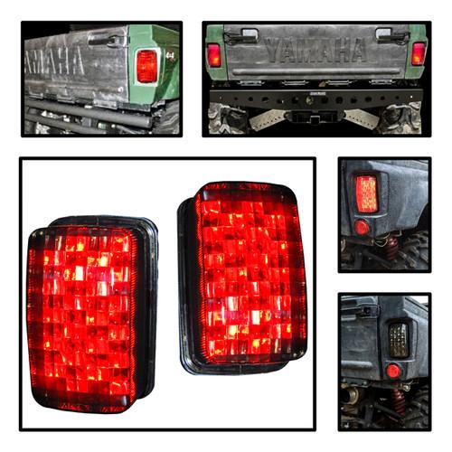 Rhino LED Smoke lens tail brake stop light for yamaha UTV 450 660 700 sxs 4x4