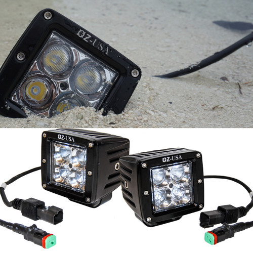 OZ-USA POD 3D Combo Beam Spot Flood LED lights Offroad Truck ATV UTV RV