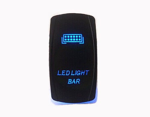 LIGHT BAR SWITCH OZ-USA® BLUE LED Laser Etch Rocker UTV TRUCK POLARIS RZR XP 900 800 DASH tj