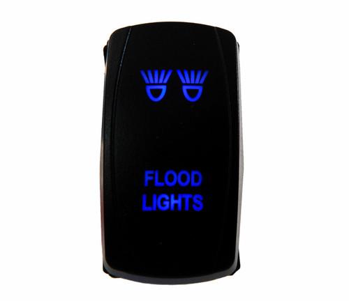 FLOOD LIGHT SWITCH BLUE led Laser Rocker UTV TRUCK POLARIS RZR XP 900 800 DASH
