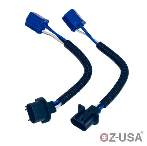H4 to H13 Pigtail Headlight Conversion Harness Sockets: Jeep Wrangler JKU