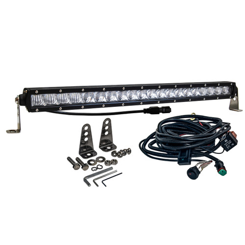 S4D 20 inch OZ-USA® Single Row LED Light Bar 4D Reflectors Spot Flood Combo Beam Off Road 4x4 4WD Truck