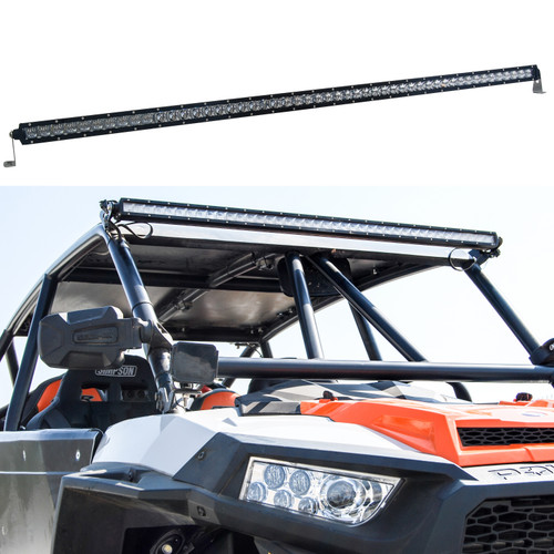 S4D 50 inch Single Row OZ-USA® LED Light bar 4D reflectors spot flood combo off road 4x4 4wd race truck