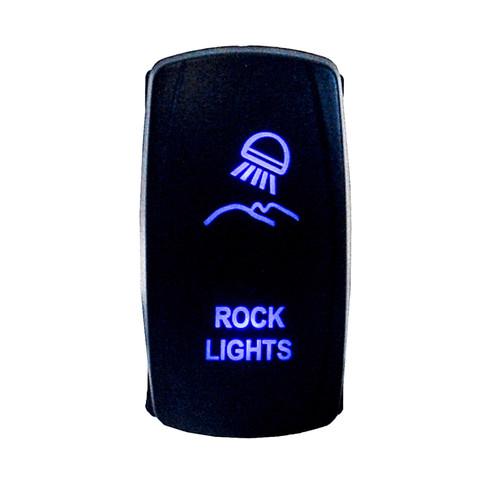 ROCK LIGHTS Under body ON-OFF SWITCH BLUE LED Laser Rocker UTV TRUCK boat dash POLARIS rv