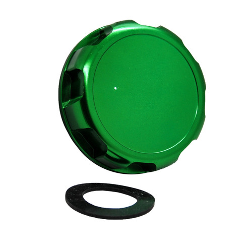 JS Billet Gas Cap Green OZ-USA® with Gasket for Kawasaki Jet 650SX SX TS XI 650 750