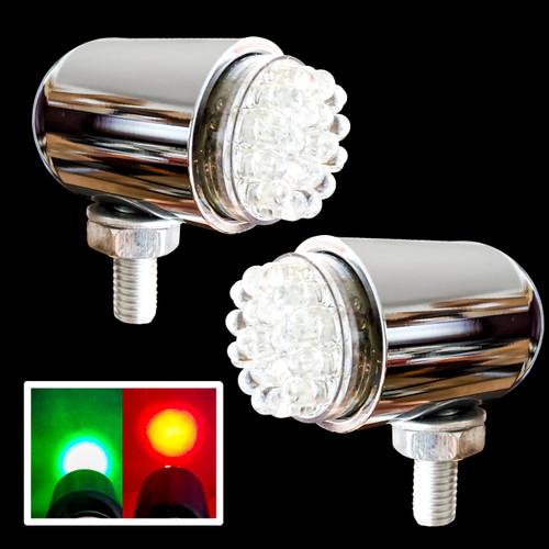 Boat LED Navigational Lights  OZ-USA® Red Portside Green Starboard Side Lights Pontoon Sailboat