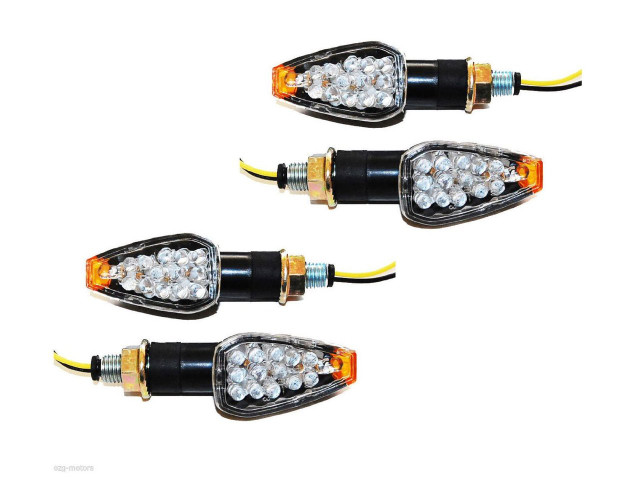 Aftermarket, bright motorcycle LED turn signals