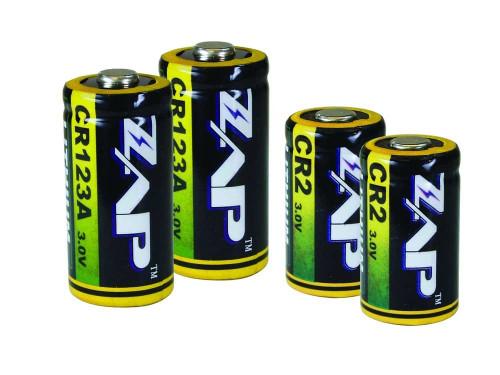 ZAP Lithium CR2/CR123A Batteries