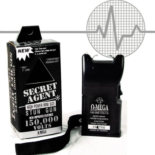 Omega Secret Agent Stun Gun - 150,000 Volts!
