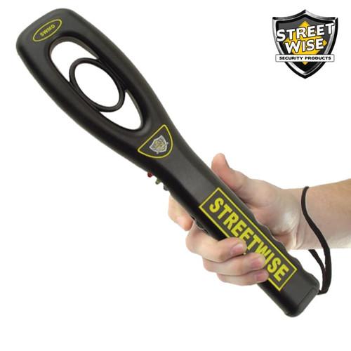 Hand-Held Metal Detector in hand