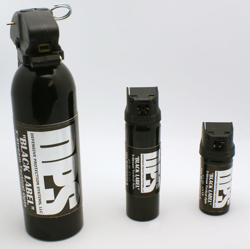 DPS Black Label Pepper Spray Sizes