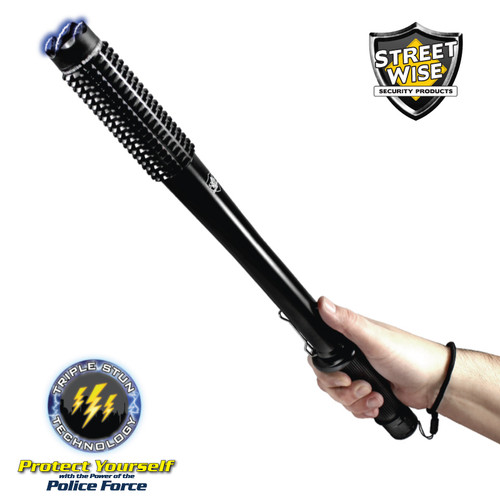 Streetwise Barbarian Stun Baton Flashlight - 9 Million Volts in Hand