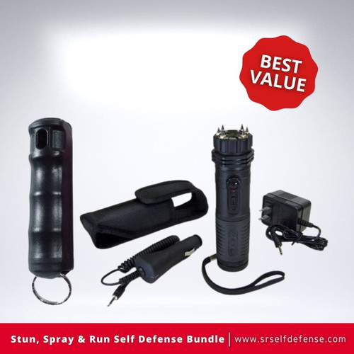 Stun, Spray & Run Self Defense Bundle Best Value