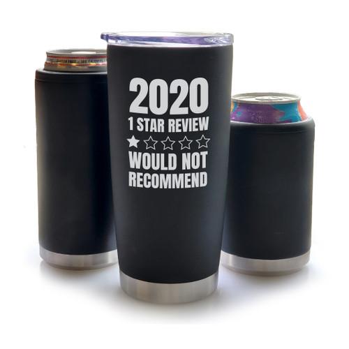 """2020 1 Star Review"" - Engraved Koozies & Tumblers"