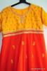 Orange Red Churidar Suit