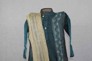 1016 Green Kurta set