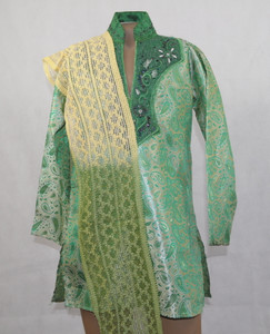 1009 Green Designer Kurta set