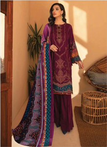 01 Purple Suit-Latest Pakistani Party Wear Readymade