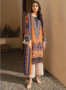 02 Orange Suit- Latest Pakistani Party Wear Readymade
