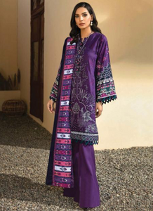 04 Dark Purple Suit - Latest Pakistani Party Wear Readymade