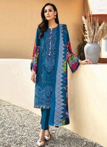06 Blue Suit - Latest Pakistani Party Wear Readymade