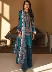 07 Turquoise Suit - Latest Party Pakistani Wear Ready made
