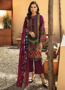 08 Dark Pink Suit - Latest Pakistani Party wear Albany