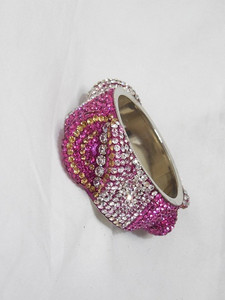 Stone Bangles  Big - Light Pink D24 (Single)