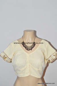 Cream Readymade Blouse
