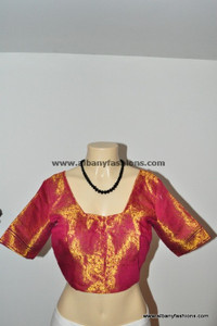 Red silky Readymade Blouse